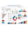 Infographics design charts and elements vector image vector image