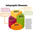 isometric infographic elements vector image