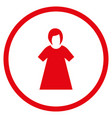 lady figure rounded icon vector image vector image