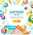 lottery concept banner card with realistic 3d vector image vector image