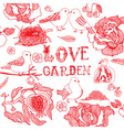 Love garden vector | Price: 1 Credit (USD $1)