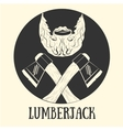 lumberjack pattern vector image vector image