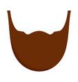 man beard icon flat style vector image