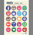 Media and business icons set drawn by chalk vector | Price: 1 Credit (USD $1)