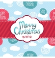 Merry Christmas greeting card background vector image vector image