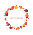 multicolored round banner vector image vector image