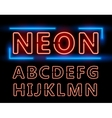 Neon font set vector image vector image