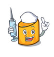 nurse rigatoni character cartoon style vector image vector image