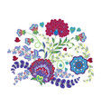 ornate embroidery ornament with fantastic flowers vector image