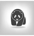 Panda grey label - vector image