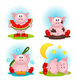 pig in action vector image