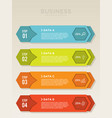 planning step for infographic with icons and 4 vector image vector image