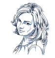 portrait of attractive woman of good-lookin vector image vector image