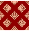 Red and beige arabesque pattern vector image vector image