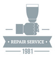 renovation service logo vintage style vector image vector image