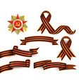 russian georgian ribbons order of patriotic war vector image vector image