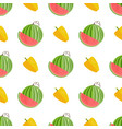 seamless pattern with yellow pepper and watermelon vector image vector image