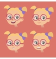 set of little girls faces with various vector image