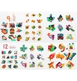 set of paper graphics vector image vector image