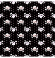 Skulls seamless pattern 5 vector image vector image