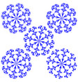 snowflake sign set 2212 vector image vector image