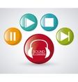 Sound icon design vector image