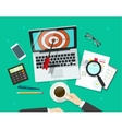 Successful business target manager working on vector image