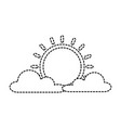 summer sun with clouds vector image vector image