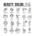 thin line beauty salon with assortment of vector image vector image