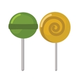 Two lollipop sweet dessert food colored vector image vector image