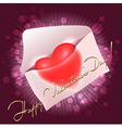 Valentine Greeting card with heart in the message vector image vector image