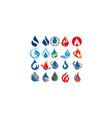 water fire drop vector image