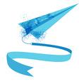 watercolor plane vector image vector image