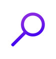 web icon magnifier purple gradient search sign vector image vector image