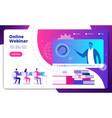 webinar concept online webinars seminar speaker vector image vector image