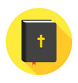 holy bible book icon flat vector image