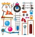 Sport gym equipment vector image