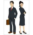Asian business people vector image