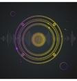 Music Background Colorful Outline Loudspeaker vector image