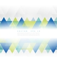Abstract geometric shape from color triangles vector image