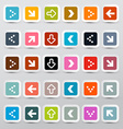 Arrows Set on Colorful Square Papers vector image vector image
