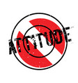 attitude rubber stamp vector image vector image