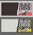 banners for black friday vector image vector image