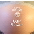 bashower invitation on abstract pregnant belly vector image vector image