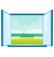 beach view by the window vector image