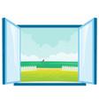 beach view window vector image vector image