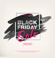 black friday special offer sale banner vector image vector image