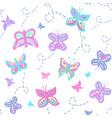 buzzing butterflies pastel vector image vector image