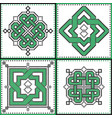 celtic endless decorative knots selection in tile vector image vector image