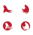 chicken icon design vector image vector image